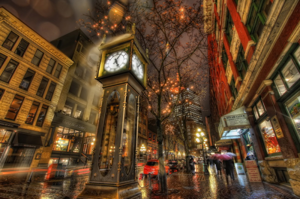 Steam Powered Clock Gastown Vancouver