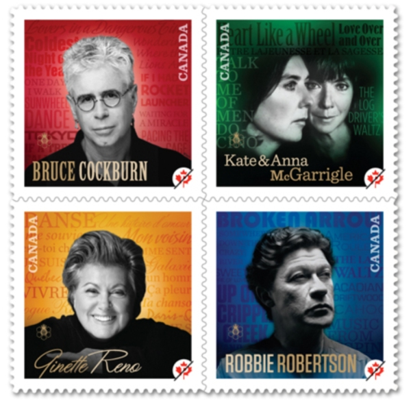 Canada Post Stamps Canadian Recording Artists