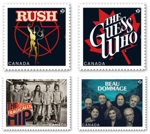 Canada Post Stamps Canadian Rock Bands