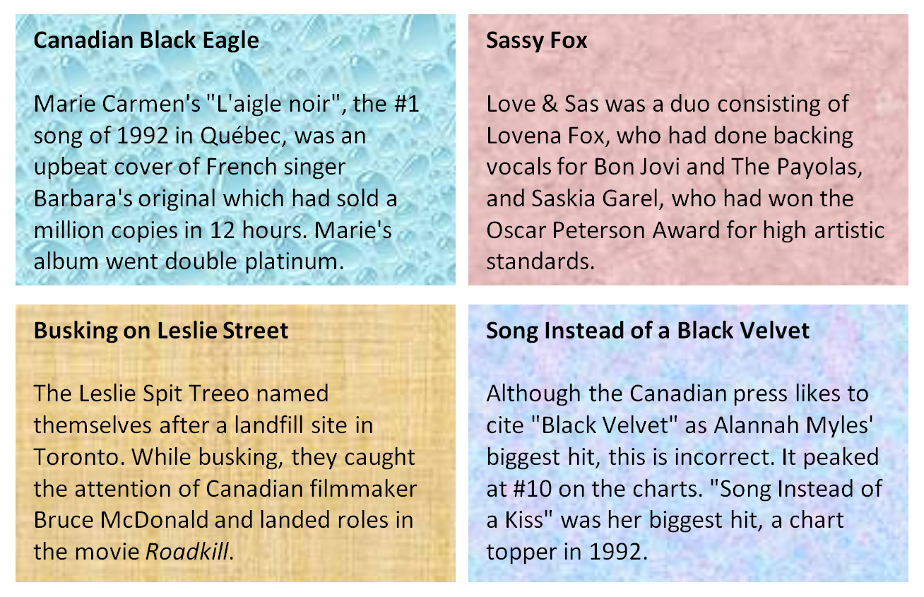 1992's Biggest Canadian Hits, Both English and French