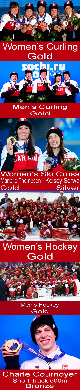 Canadian Sochi Olympic Medals Batch 5a copy