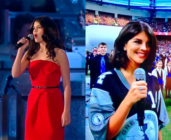 Nikki Yanofsky BC Place Stadium 2010 and 2014
