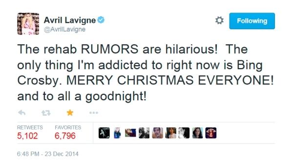 Avril Tweet copy