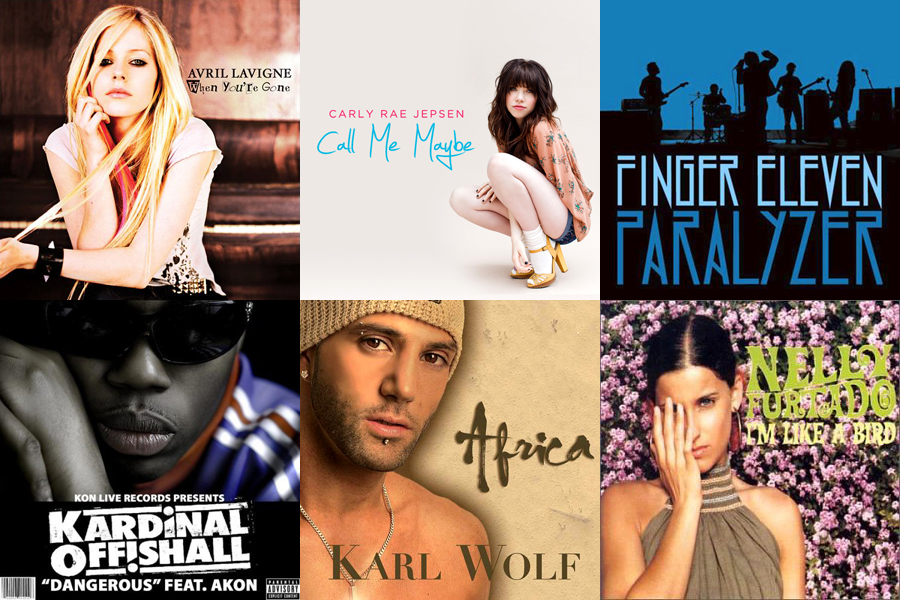 Most Popular Canadian Songs of the New Millennium | Canadian