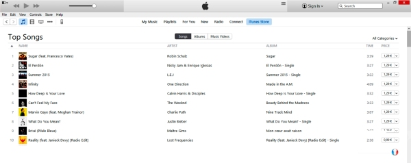 francesco yates itunes france