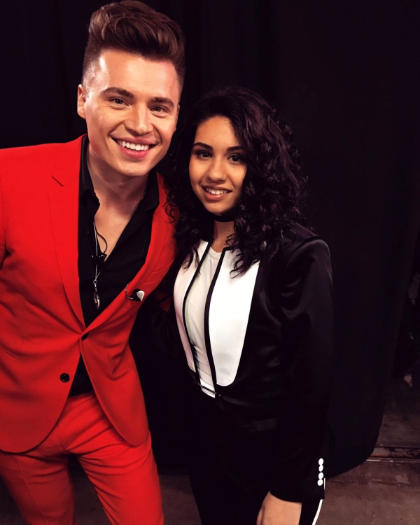 Shawn Hook with Alessia Cara backstage at the JUNOs 2016 in Calgary.